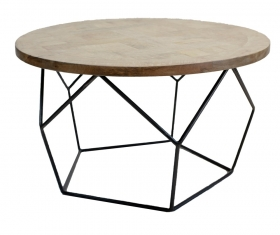 Masute Cafea Acacia SHIVANI wood and metal Table
