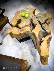 Masuta/Taburet din lemn masiv - Monobloc DEVINA Solid wood coffee table