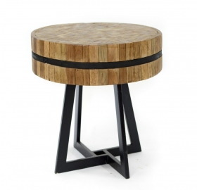 Camera de zi NOVIA teak  wood and metal Table