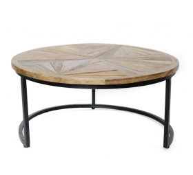 Masute Cafea HERLINA teak  wood and metal Table
