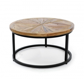 Masute Cafea ADELIA teak  wood and metal Table
