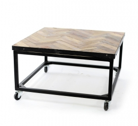 Masute Cafea teak  HANA wood and metal Table