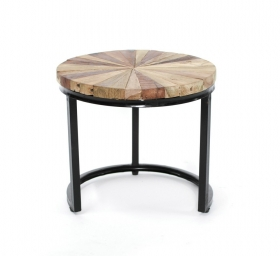Mobilier teak TASYA-C  wood and metal Table