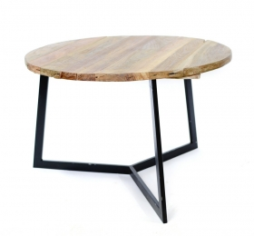 Masute Cafea teak TIARA-A  wood and metal Table