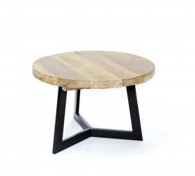 Masute Cafea teak TIARA-C  wood and metal Table