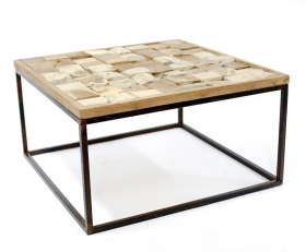 Camera de zi Teak ELSA  wood and metal Table