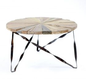 Masute Cafea Teak DEWI  wood and metal Table