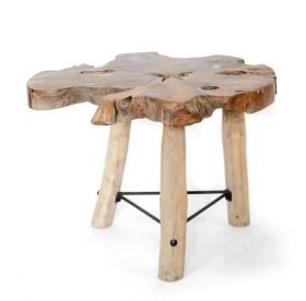 Camera de zi Solid  RIKA wood and metal Table